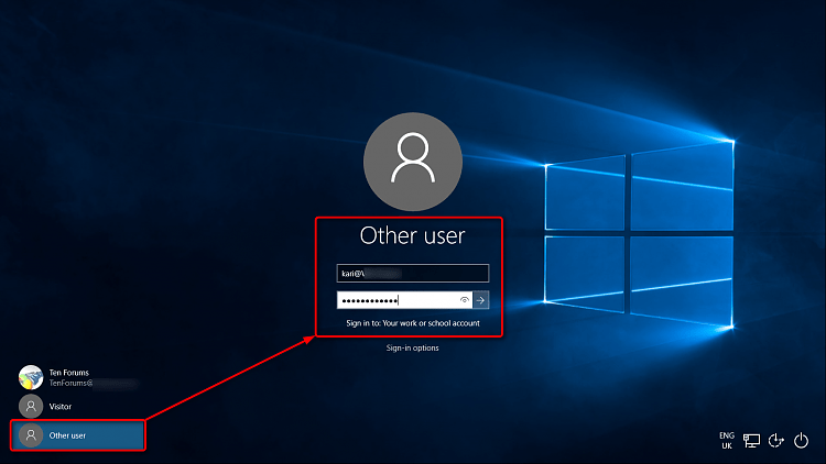 Lock Screen Wallpaper Hd Logging Into Windows 10 Pro Using Office 365 Credentials
