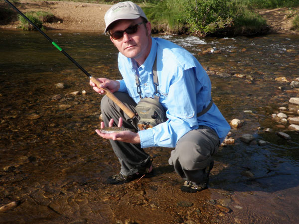 Tenkara on Boulder Creek