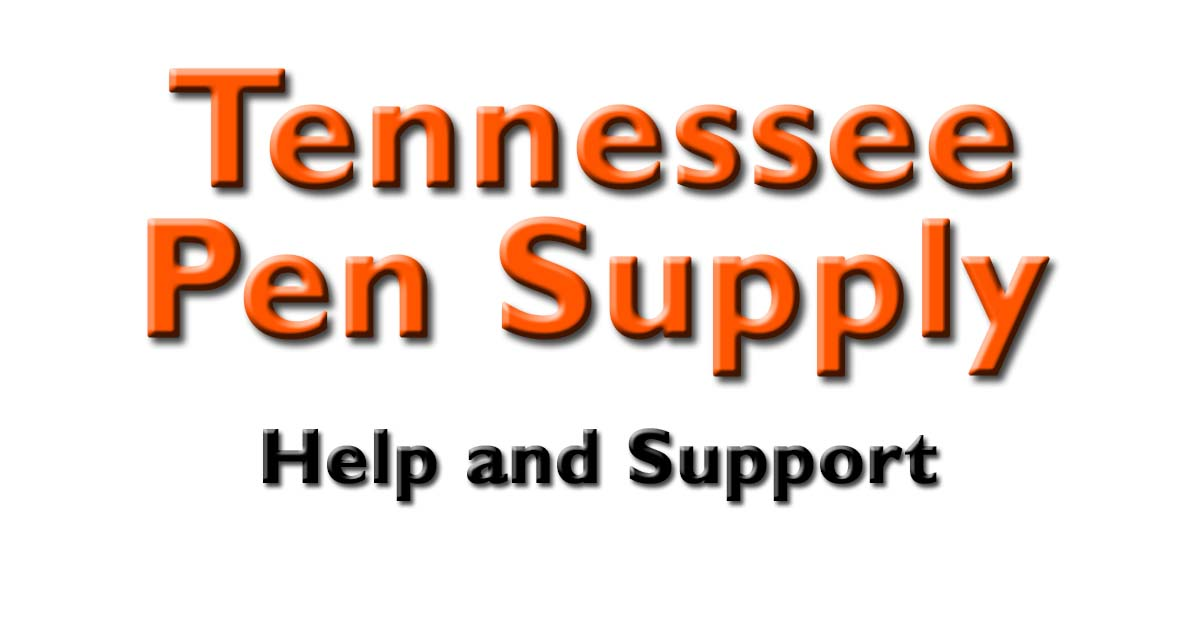 Help - Tennessee Pen Supply - help and support