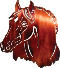 HORSE METAL WALL ART, HANGINGS, HANGING, WALL ART OF HORSES