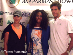 Azarenka williams Del Potro BNP Paribas Showdown party