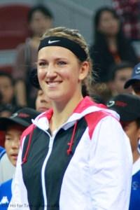 Azarenka smiles