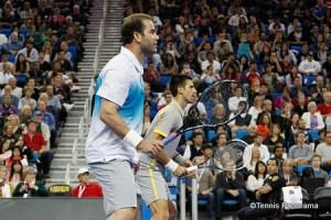 Pete Sampras adn Novak Djokovic
