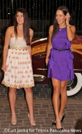 Sorana Cirstea and Ana Ivanovic at 2012 BNP Paribas Open Players Party