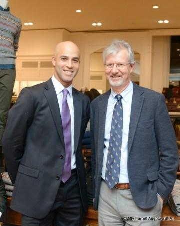 James Blake (L) and Brooks Brothers CEO Claudio Del Vecchio (R)