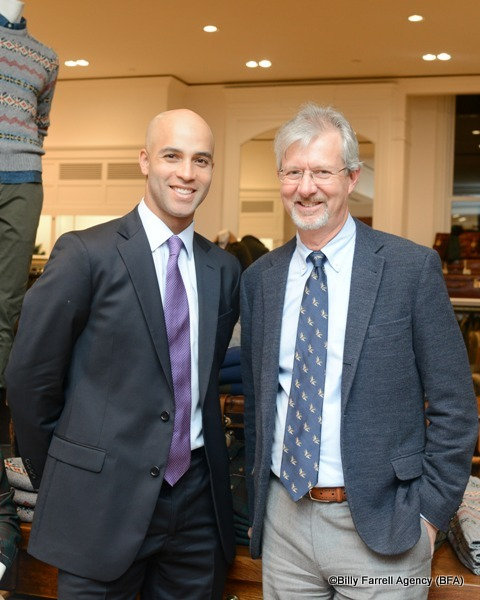 James Blake and Brooks Brothers CEO Claudio Del Vecchio