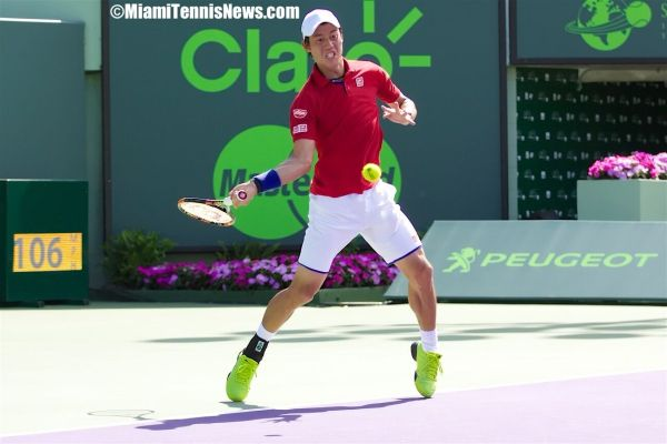Kei Nishikori photo courtesy of MiamiTennisNews.com