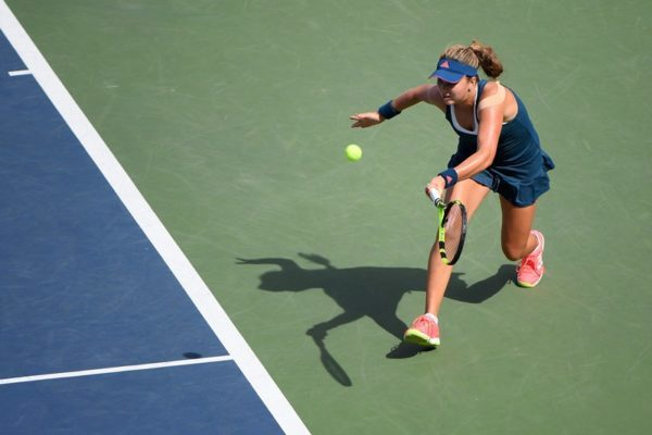 September 11, 2016 - Kayla Day in action against Viktoria Kuzmova in the girls' singles final during the 2016 US Open Junior Championships at the USTA Billie Jean King National Tennis Center in Flushing, NY.