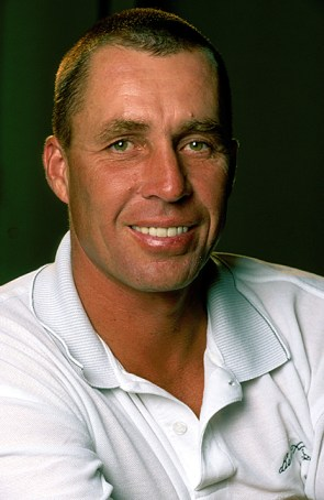 Lendl made the author smile, and tried out his funky grip.