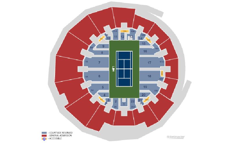 US Open Seating Guide 2019 US Open Championship Tennis Tours