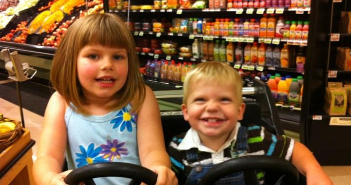 Children in Shopping Cart