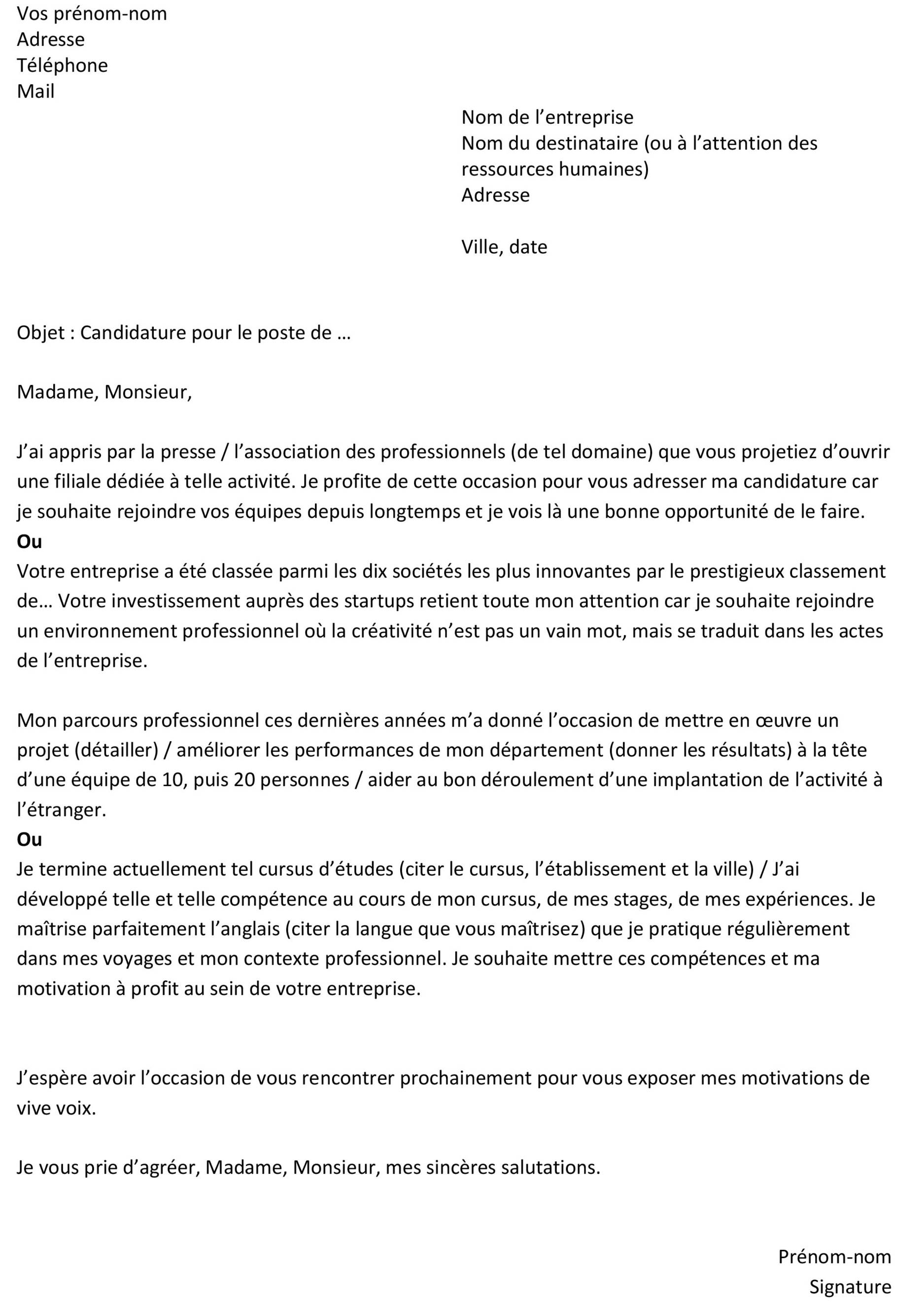 cv exemple copie coller