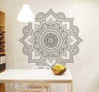 Floral Mandala Decorative Wall Sticker - TenStickers
