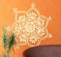 Seven Petal Flower Wall Decal - TenStickers
