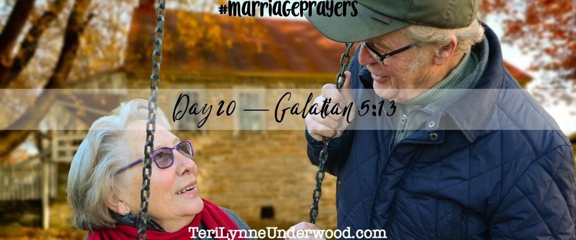 #MarriagePrayers: Galatians 5:13