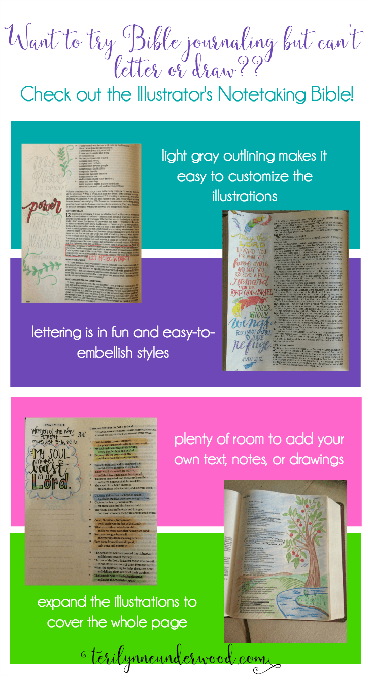 Intimidated by the idea of Bible Journaling? The HCSB Illustrator's Notetaking Bible is for you!