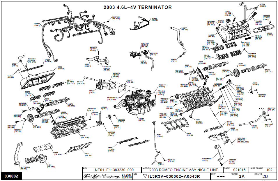 97 ford taurus engine diagram