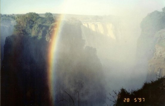 Rainbow over Victoria Falls Africa