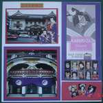 KabukiTheater-Scrapbook Design layout- Highlights Tokyo Japan Travel