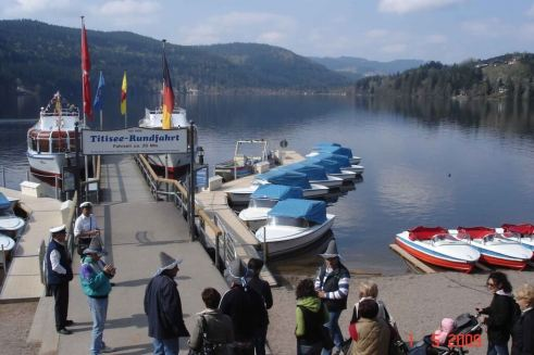 Romantic-Road-Lake-Titisee in the Black Forest Bavaria Germany