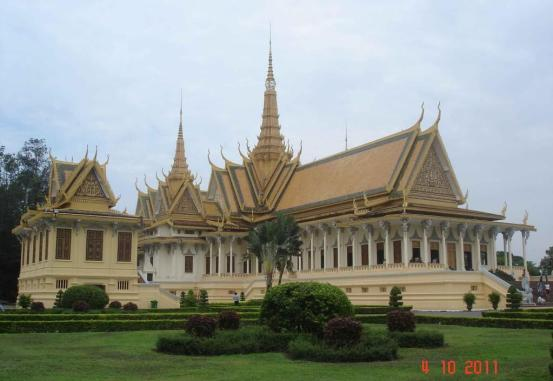 Magnificent Throne-Hall-Royal-Palace Complex.Phnom Penh Cambodia 2011