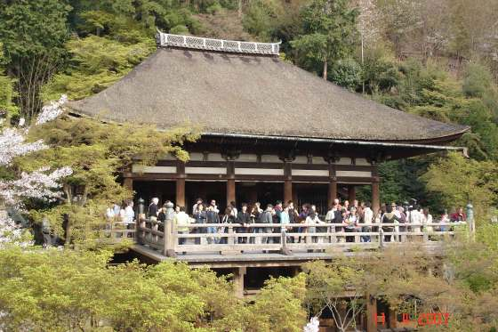 Kiyomizu-Temple - veranda or stage overlooking the temple grounds and city