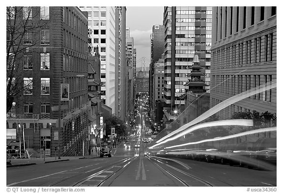 Black Car Lights Wallpaper Black And White Picture Photo Cable Car Rails Chinatown