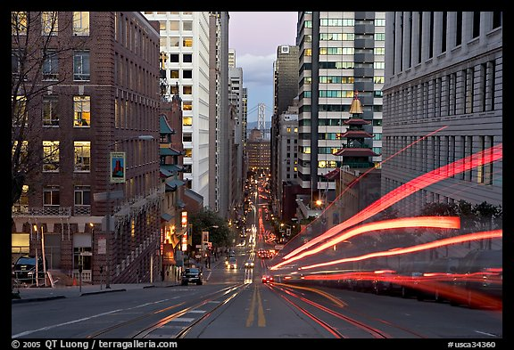 Black Car Lights Wallpaper Picture Photo Cable Car Rails Chinatown Financial