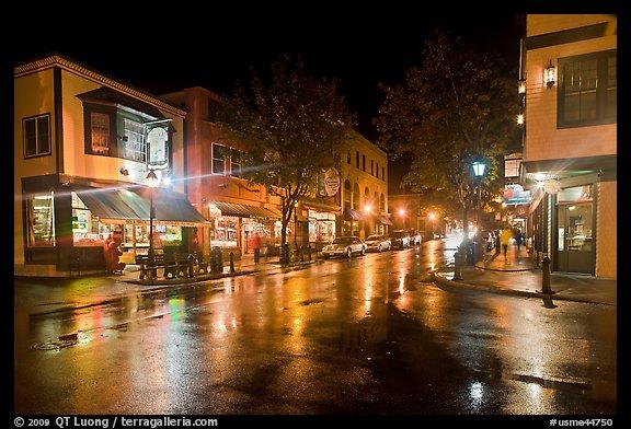 Rainy Fall Day Wallpaper Picture Photo Street Corner On Rainy Night Bar Harbor