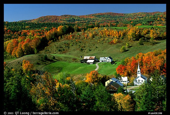 Fall In Vermont Wallpaper Picture Photo Church And Farm In Fall East Corinth
