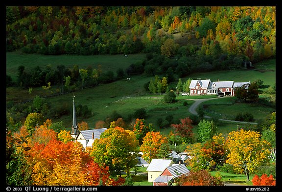 Fall Colors Computer Wallpaper Picture Photo East Orange Village In Autumn Vermont New