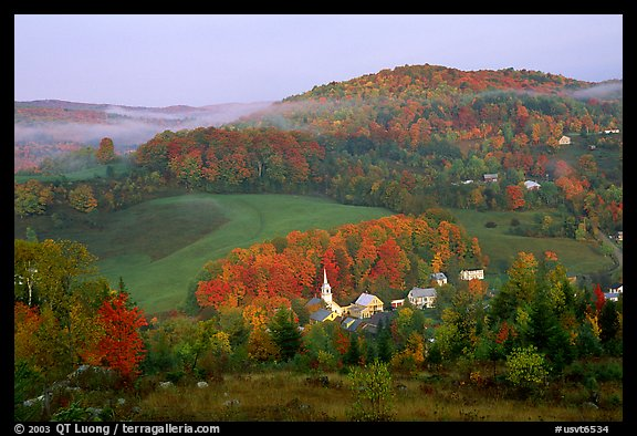 New England Fall Wallpaper Picture Photo East Corinth Village In Fall Morning