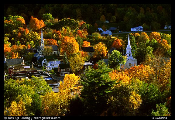 New England Fall Wallpaper Free Picture Photo Village Surounded By Trees In Brilliant