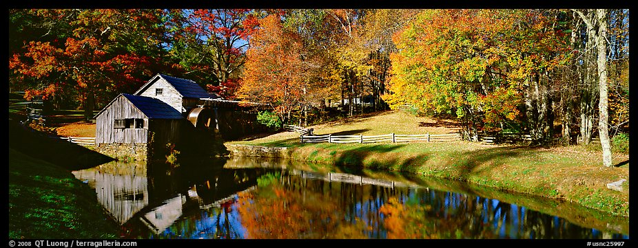 New England Fall Wallpaper Free Panoramic Picture Photo Mill And Pond In Autumn Virginia