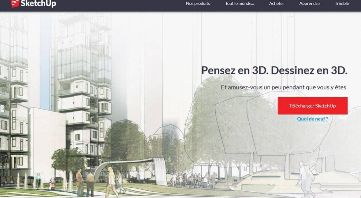 Logiciel pour plan de maison SketchUp  la modélisation 3D - Construire Sa Maison Plan