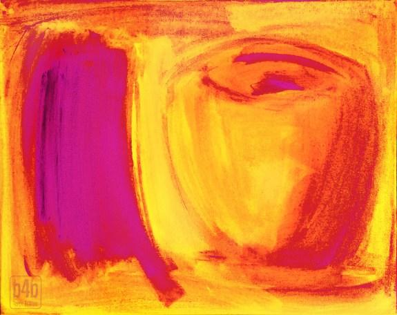 Mistaken Identity: Orange-Pink, digital, 2014, by Terre Britton