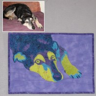Terry Aske - dog quilt portrait
