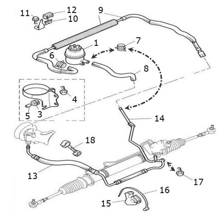 terrys jaguar parts steering hoses
