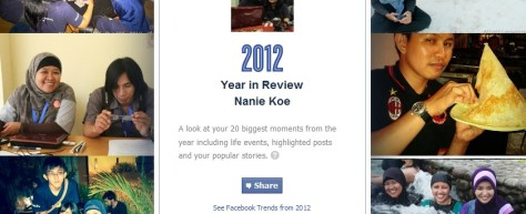 Tampilan Facebook Year in Review