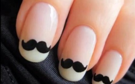 Creative Mustaches Nail Art 2013