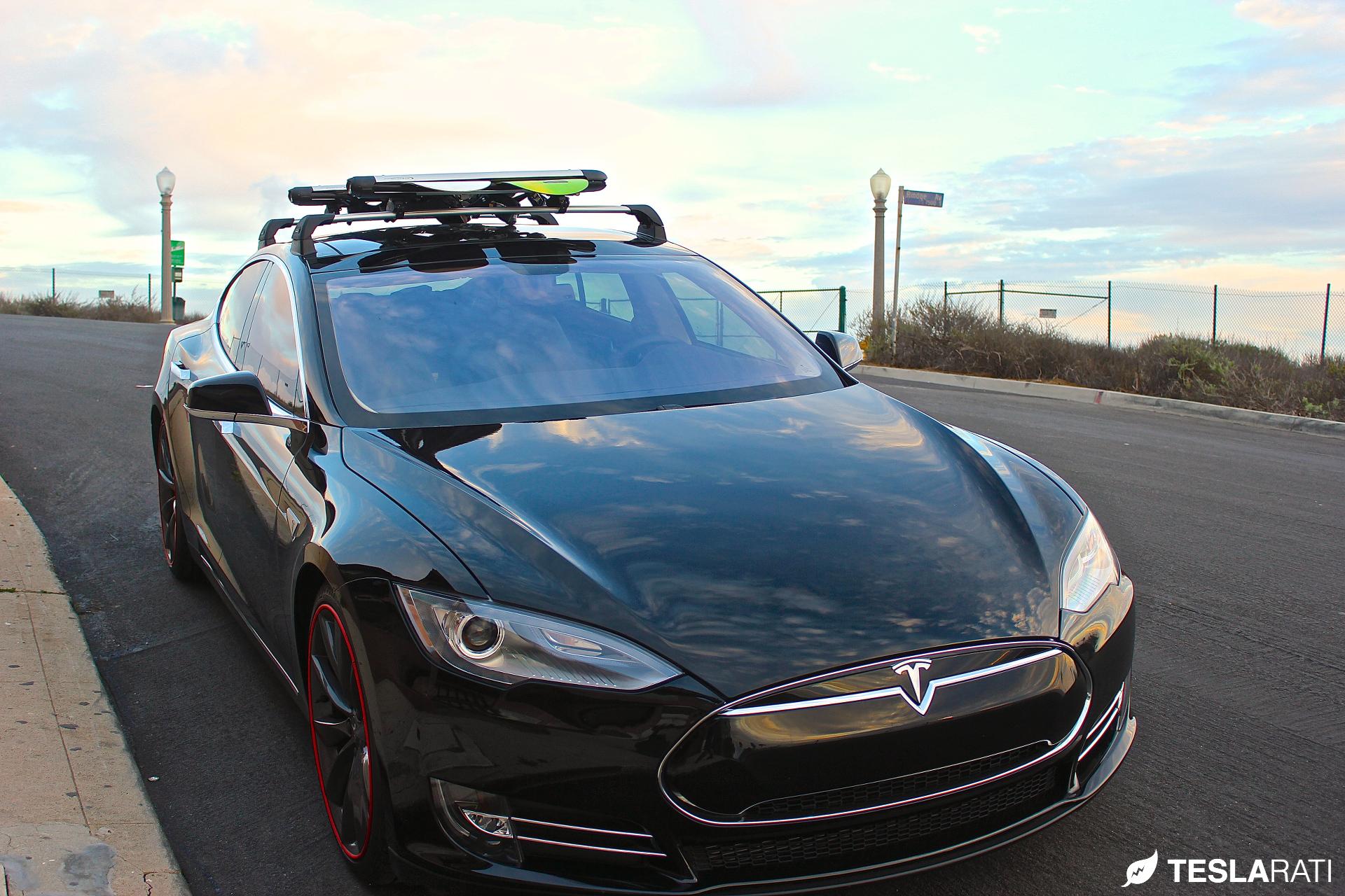 Tesla Model S Whispbar Snow Mount Front Teslaraticom