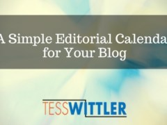 A Simple Editorial Calendar for Your Blog