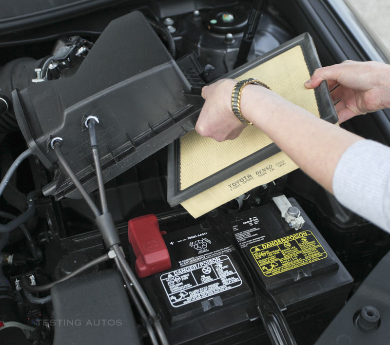How often should an engine air filter be changed?
