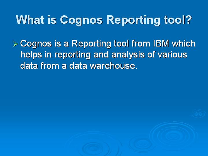 Most important Cognos Interview Questions and Answers TestingBrain
