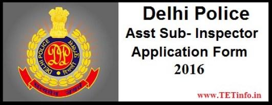 Delhi Police SI ASI Recruitment 2016