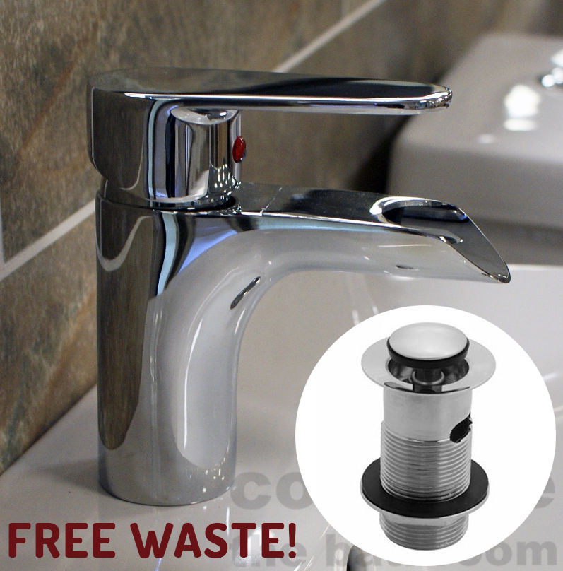 Cheap Basin Mixer Mono Tap Waterfall Bathroom Cloakroom