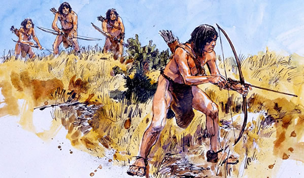 prehistoric bow and arrow