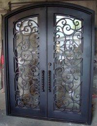 Forged Iron Entry Doors Custom Designed Exterior Iron ...
