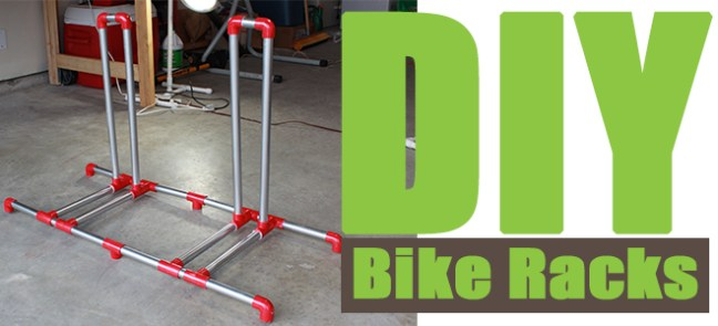 DIY Bike Rack, How to create a PVC bike rack and a DIY Velogrip hanging bike stand