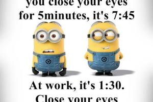 5 minutes in bed vs 5 minutes at work - TexasNepal